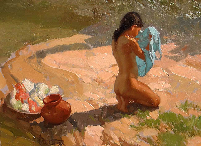 Fernando Amorsolo - Bather by the Water
